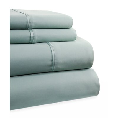 600 Thread Count 4 Piece Sheet Set Size: Queen, Color: Blue