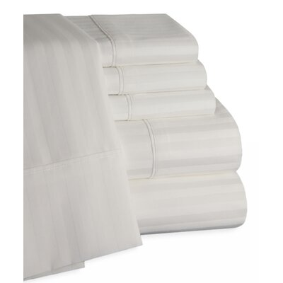 450 Thread Count 100% Egyptian Quality Cotton Sateen Sheet Set Size: Full, Color: White