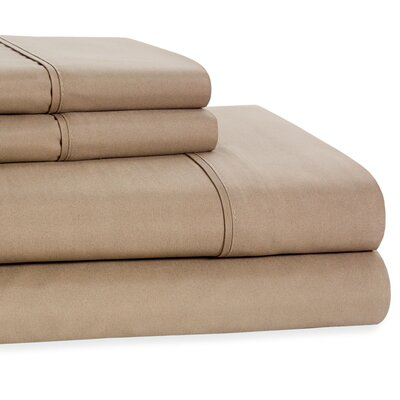 4 Piece Beauty Sleep Sheet Set Color: Taupe, Size: King