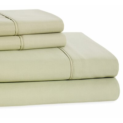 4 Piece Beauty Sleep Sheet Set Color: Sage, Size: King