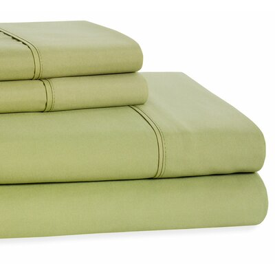 4 Piece Beauty Sleep Sheet Set Size: Full, Color: Dark Green