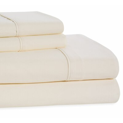 4 Piece Beauty Sleep Sheet Set Size: Full, Color: Ivory