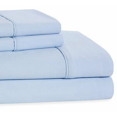 4 Piece Beauty Sleep Sheet Set Color: Sky Blue, Size: King