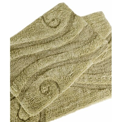 Swirl 2 Piece Bath Rug Set Color: Sage