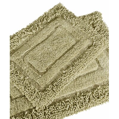 Savoy 2 Piece Shaggy Bath Mat Set Color: Sage