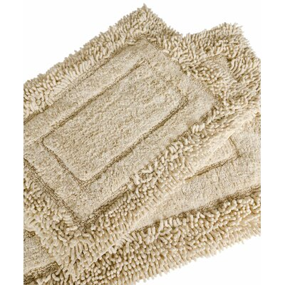 Savoy 2 Piece Shaggy Bath Mat Set Color: White