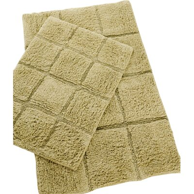Pacific Block 2 Piece Bath Rug Set Color: Sage
