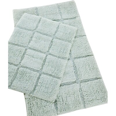 Pacific Block 2 Piece Bath Rug Set Color: Aqua