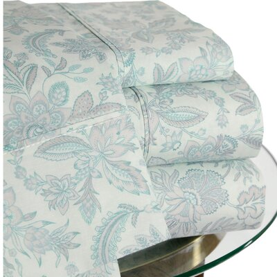 3 Piece 200 Thread Count Floral Sheet Set Size: Queen