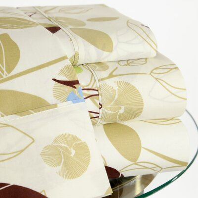 200 Thread Count Botanical Sheet Set Size: Twin
