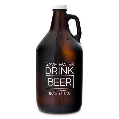 Amber Glass 64 Oz. Beer Growler 9886-26