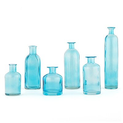 Yucca Valley 6 Piece Table Vase Set Finish: Oasis Blue
