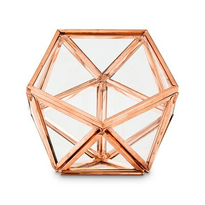 Prosser Glass Geometric Decorative Box