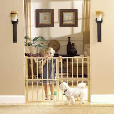 GuardMaster III Wood Slat Pressure Pet Gate Size: Tall/Wide (32 H x 48 W x 2 D)