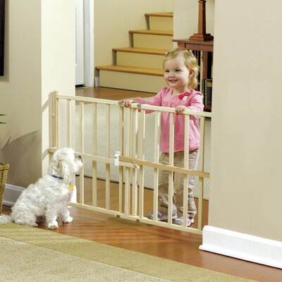 GuardMaster III Wood Slat Pressure Pet Gate Size: Standard/Wide (24 H x 42 W x 2 D)