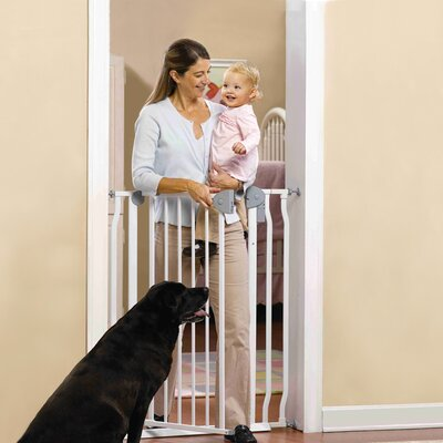 GuardMaster IV Extra Tall Walk-Thru Steel Slat Pet Gate