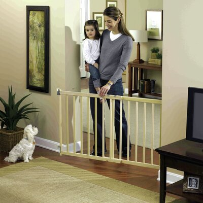 GuardMaster III Wood Slat Walk-Thru Pet Gate Size: Tall/Extra Wide (30 H x 54 W x 2 D)
