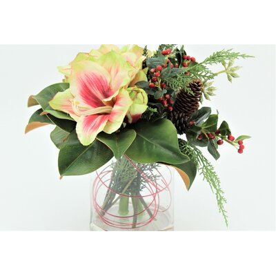 Amaryllis Neck Tie Mixed Floral Arrangement
