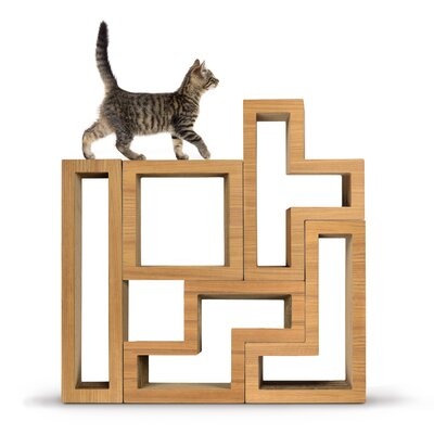 Harrison Modular Cat Tree Color: Wood Teak