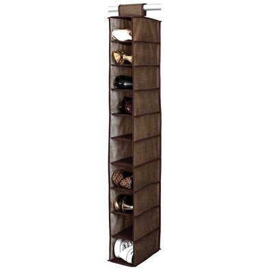 Simplify 10 Shelf Shoe Organizer - Finish: Espresso