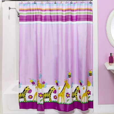 Giraffe and Zebra Shower Curtain