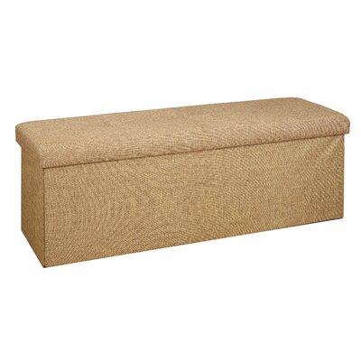Faux Linen Triple Folding Storage Ottoman Upholstery: Camel