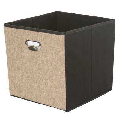 Collapsible Storage Linen Cube Color: Natural REBR3862 42299668