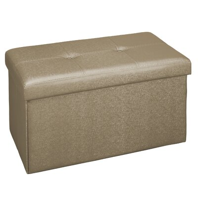 Hobert Double Storage Ottoman Upholstery: Bronze