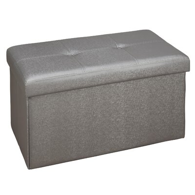 Hobert Double Storage Ottoman Upholstery: Pewter