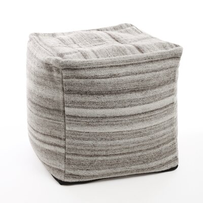 Marble Pouf Upholstery: Light Grey