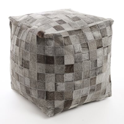 Patchwork Leather Pouf