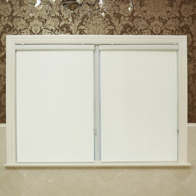 Premium Blackout Single Roller Shade Color: Ivory, Size: 25 W x 64 L