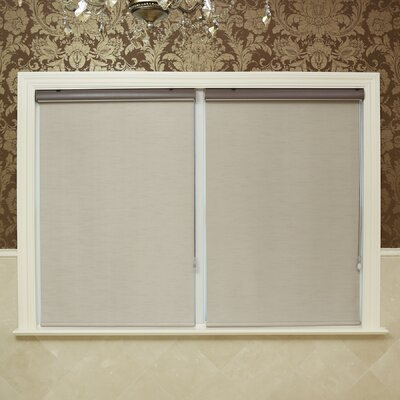 Premium Blackout Single Roller Shade Color: Taupe, Size: 25 W x 64 L