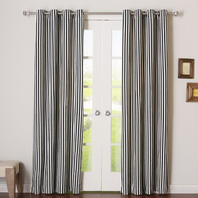 Herringbone Grommet Curtain Panels