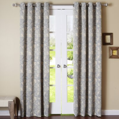 Paisley Stitch Grommet Blackout Thermal Curtain Panels