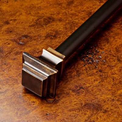 Hampton Curtain Rod Finish: Bronze