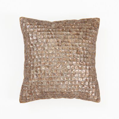 Mother of Pearl Pillow Cover Color: Brown