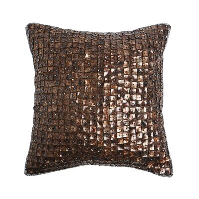 Mother of Pearl Pillow Cover Color: Dark Chocolate