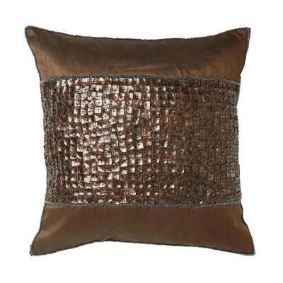 Mother of Pearl Band Pillow Cover Color: Dark Chocolate