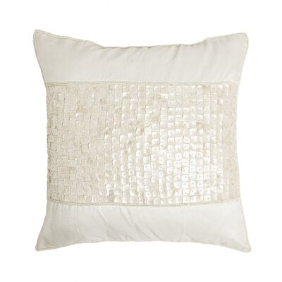 Mother of Pearl Band Pillow Cover Color: Ivory