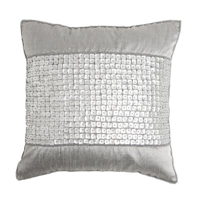 Mother of Pearl Band Pillow Cover Color: Silver