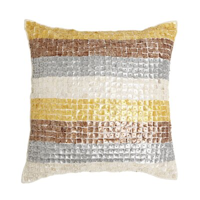 Multicolor Striped Mother of Pearl Pillow Cover