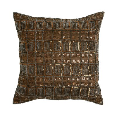 Mother of Pearl and Sequin Pillow Cover Color: Dark Chocolate