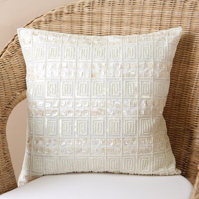 Samarth Sequin Pillow Cover Color: Ivory
