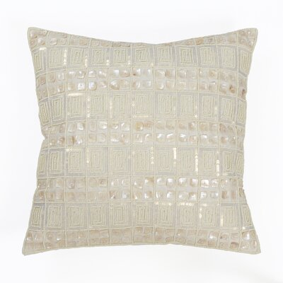 Mother of Pearl and Sequin Pillow Cover Color: Ivory