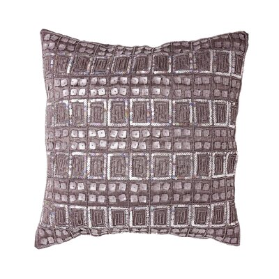 Mother of Pearl and Sequin Pillow Cover Color: Purple