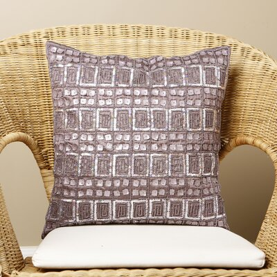 Samarth Sequin Pillow Cover Color: Purple