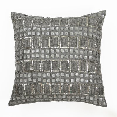 Mother of Pearl and Sequin Pillow Cover Color: Silver
