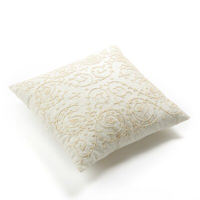 Hand Beaded Decorative Throw Pillow Cover