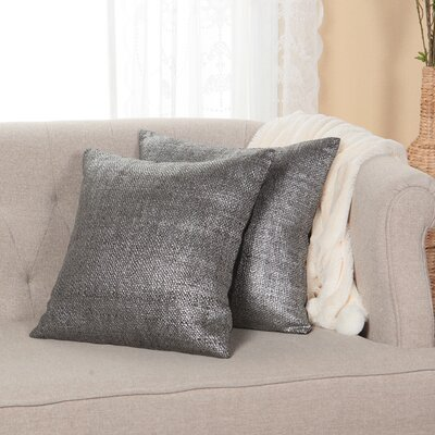 Weave Throw Pillow Cover Color: Black